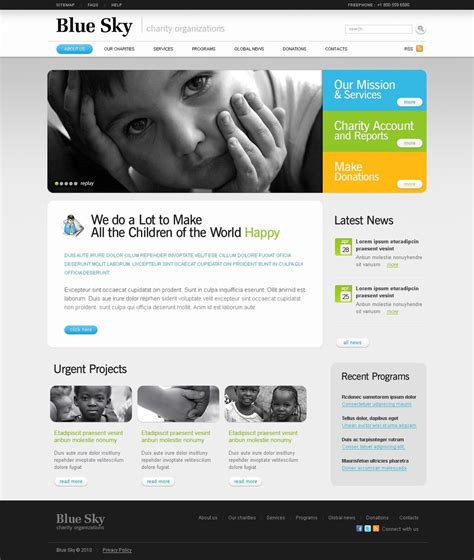 Charity Website Template 29336 Charity Web Templates