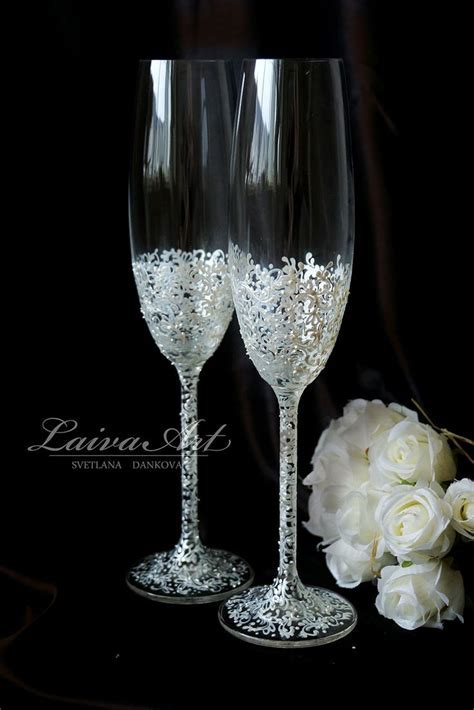 282 best Wedding Champagne Flutes images on Pinterest