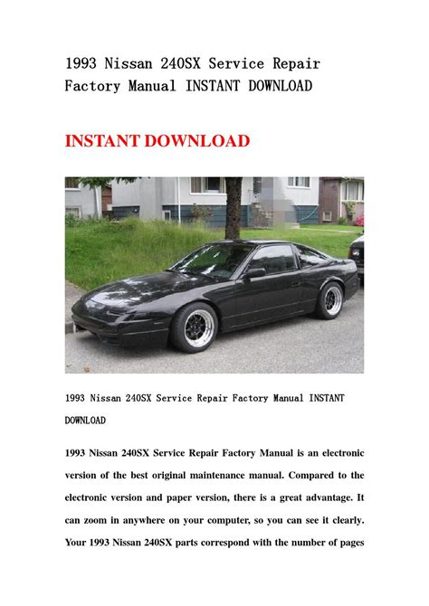 service and repair manuals 1993 nissan nx electronic toll collection 1993 nissan 240sx service repair factory manual instant download by fjsefbhen issuu