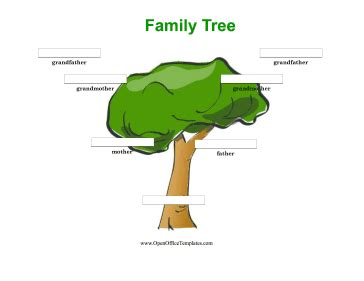 3 Generation Family Tree Template Word colorful 3 generation family tree openoffice template