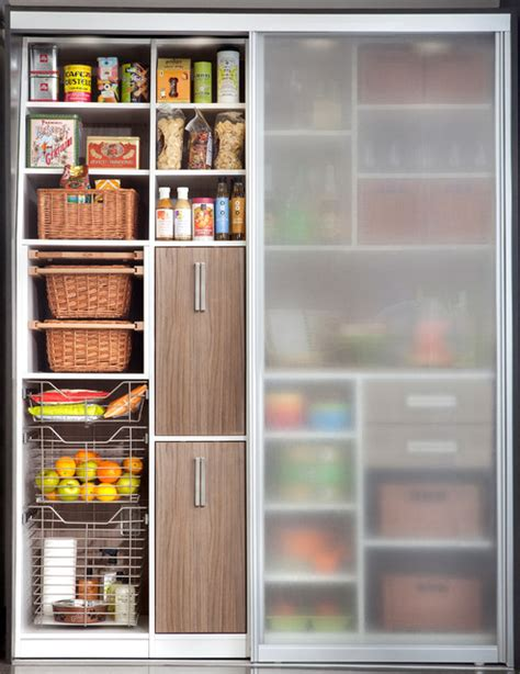 kitchen cabinets with sliding doors pantry sliding doors modern kitchen new york by