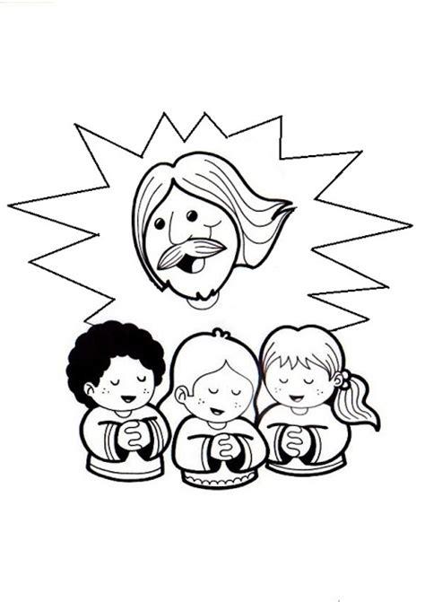 imagenes para colorear jesus y los niños fuente dibujosparacatequesis