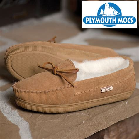 plymouth mocs mens boot slippers heartland america plymouth mocs mens moccasins