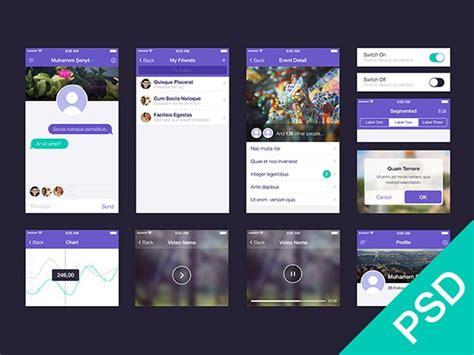 app design template psd ui set for app design psd freebiesbug