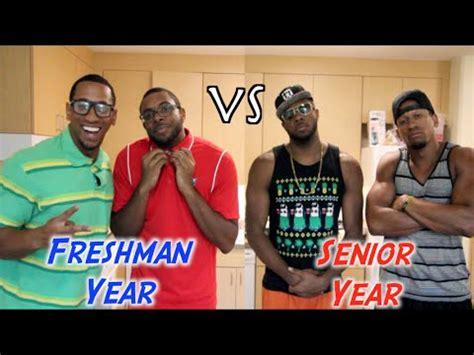 college freshman year vs senior year collegehumor post