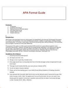 Apa Style Report Sample 6 Example Of Apa Format Expense Report Template