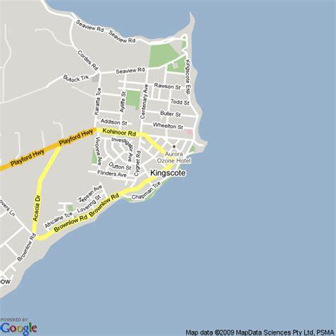 map  kingscote south australia hotels accommodation