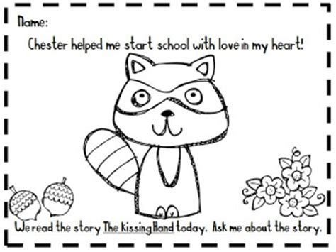 kindergarten at heart the kissing hand packet