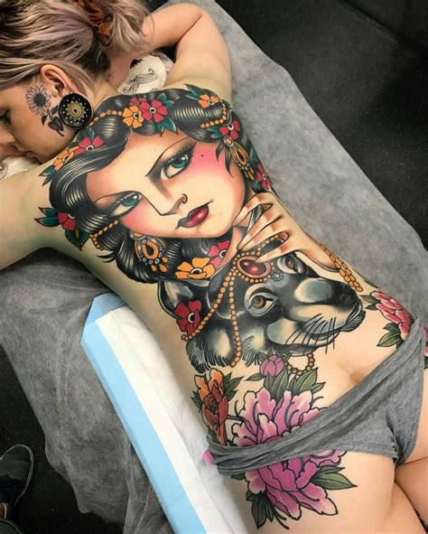 tattoo girl in the back best 25 back piece tattoo ideas on pinterest back thigh