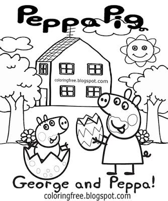 peppa pig easter coloring pages free coloring pages printable pictures to color kids