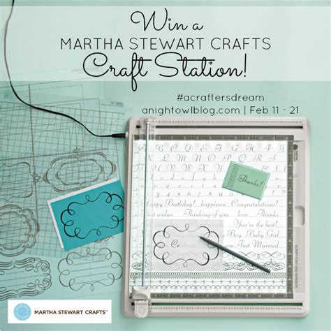 Hey Im On Martha Stewarts Website In Advance O Snarkspot by Martha Stewart Craft Station Giveaway Acraftersdream A