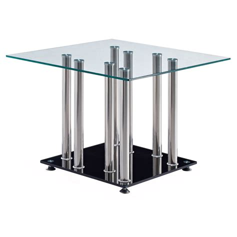 glass dining room table bases square frameless glass dining room table base with four