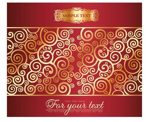 swirl background pattern free download golden swirls floral pattern background design vector 01