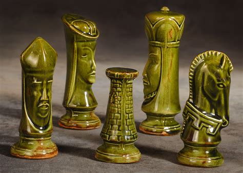 ceramic chess set the garage sale archeologist mid century modern chess set