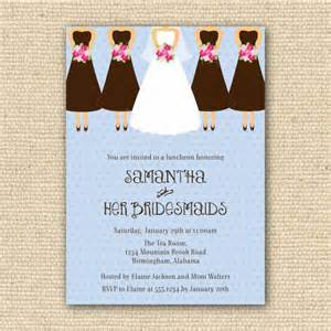 invitations for bridesmaids luncheon wording bridesmaids luncheon invitation customize colors