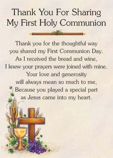 Holy Communion Thank You Cards Template by Invitations Thank You Notes