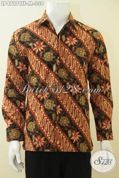 Batik Slimfit Premium Bunga Parang Serangkai jual pakaian batik parang bunga lengan panjang hem batik cap tulis premium berbahan