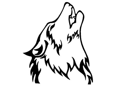 tattoo cartoon wolf wolf howling clipart best