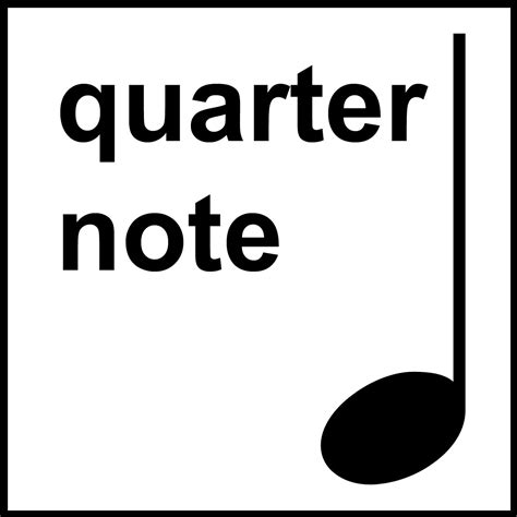 large printable quarter note clip art music notation half note b w unlabeled abcteach