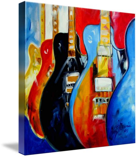 Painting M D F by Guitars Pop M Baldwin Orig By Marcia Baldwin