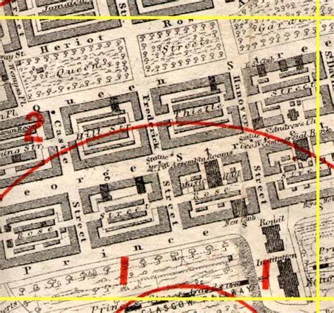 Section Q by Edinburgh Time Gun Map 1861 Section Q
