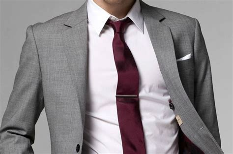 Shirt and Tie Combinations with a Grey Suit   Men Fashion