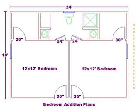 Bedroom And Bathroom Addition Floor Plans Bedroom Addition Ideas Addition With 2 Bedrooms And