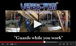 the versarail surrounds the ladder opening with a safety railing that becomes dual grab bars at the attic ladder safety railing safe lifts of