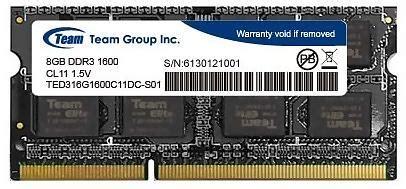 Ram Pc Team Elite Ddr3 8gb Pc12800 1600mhz product details for team elite so dimm ddr3 pc12800