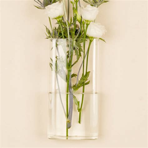 Wall Mount Vase by Rectangular Wall Mounted Glass Vase By Dibor