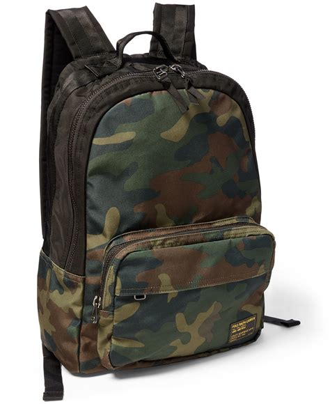 Camo Print Backpack lyst polo ralph camo print backpack in