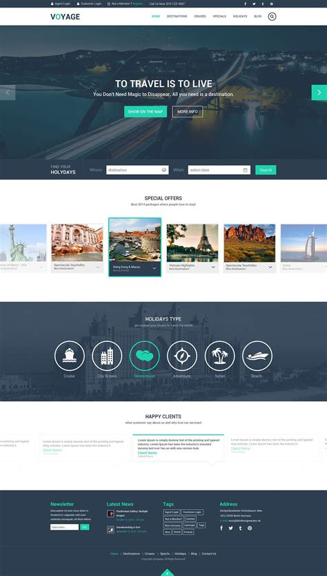 Free Travel Website Template Psd Graphic Design Pinterest Travel Website Templates Free Web Design Templates
