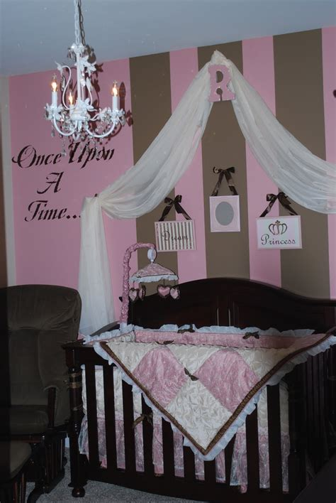Pink And Brown Baby Room | pink brown baby nurseries design dazzle