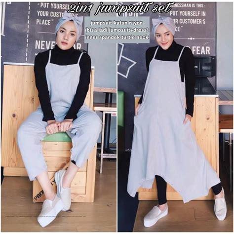 Inner Rajut 2in1 By Danisha jual baju 2in1 jumpsuit grosir baju muslim pakaian