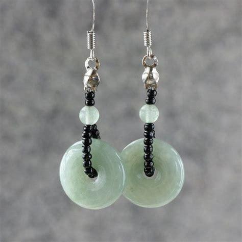 Handmade Earring Designs - jade hoop earrings bridesmaids gifts free us shipping