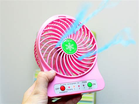 Tokuniku Mini Ac Portable Fan Pink mini portable usb rechargeable fan