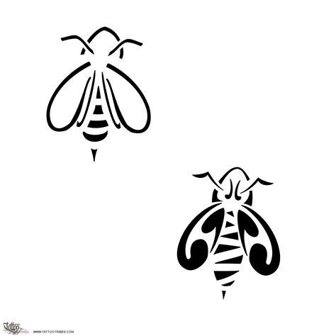 tribal bee tattoo of bee social industrious custom