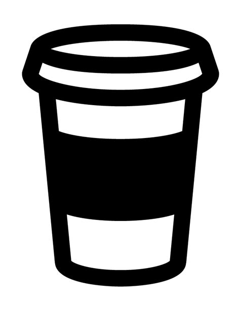 coffee cup silhouette free cup of coffee coloring pages