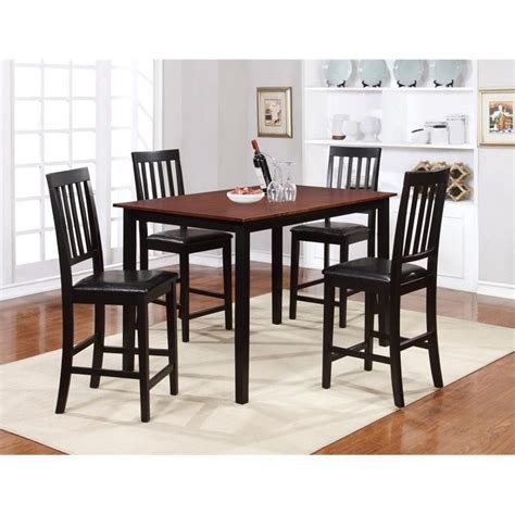 counter height rectangular table sets rectangular counter height dining table in walnut