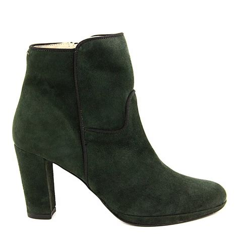 dark green suede piping ankle boots cm heel brandalley