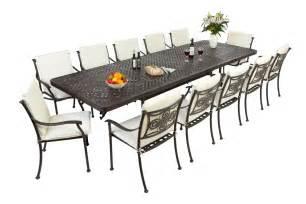 Metal Patio Tables Outside Edge Garden Furniture The Extending Cast Aluminium Garden Furniture Set In