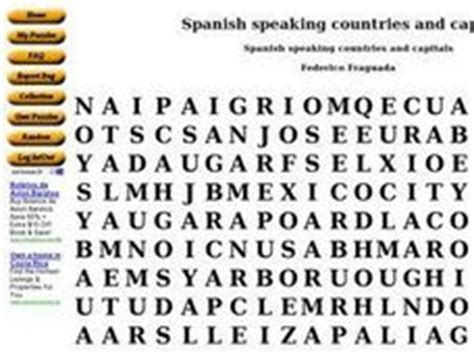 printable word search of spanish speaking countries spanish speaking countries and capitals word search 9th
