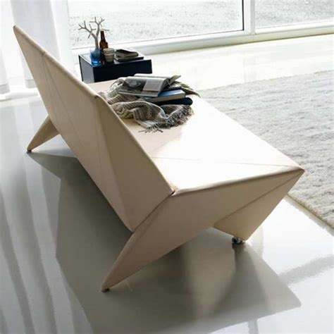 origami bed origami sofa bed with paper bend lines looks aesthetic
