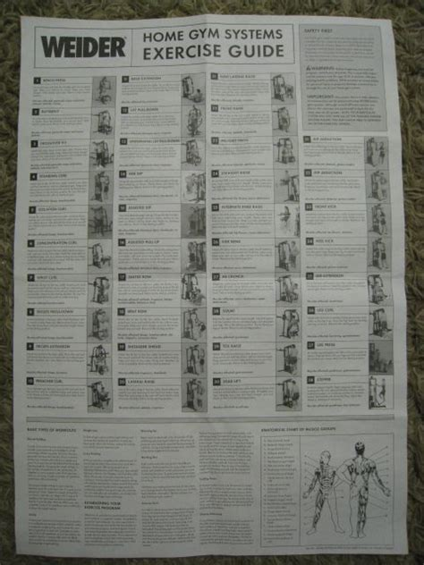 weider pro 8900 workout chart thread fs home