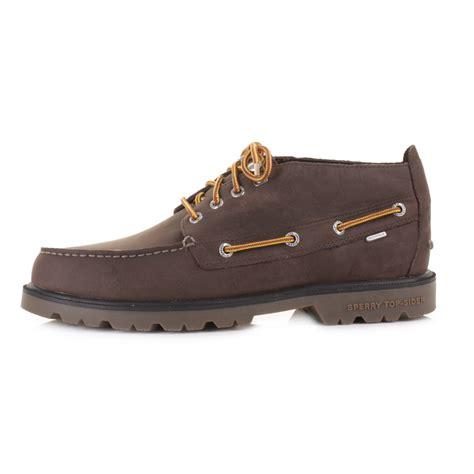 mens sperry top sider brown lug chukka waterproof deck - Waterproof Boat Shoes