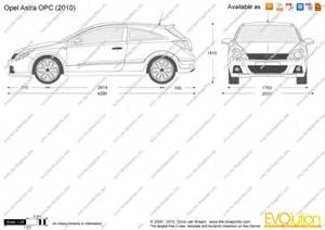 Opel Astra H Dimensions The Blueprints Vector Drawing Opel Astra Opc
