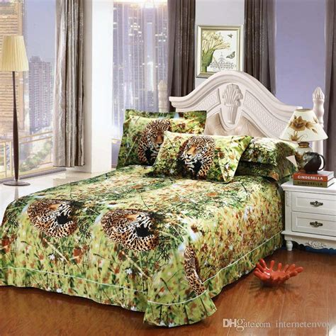 Sprei Set Size Safari manly leopard painting bedding bedspreads for