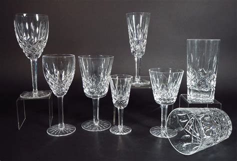 waterford barware igavel auctions 80 pc waterford cut glass stemware and