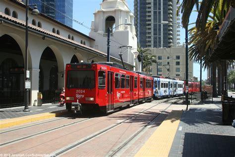 santa fe depot san diego trolley blue line coaster