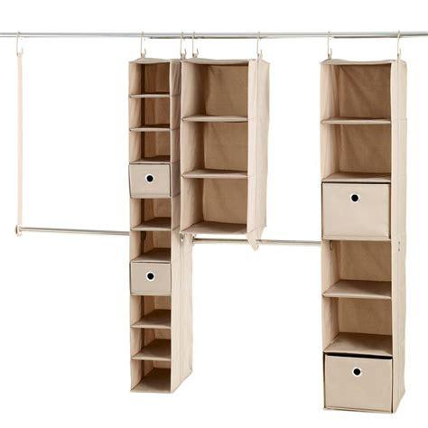 neatfreak closet organizer neatfreak 6 ft 8 ft fabric closet kit 9 set